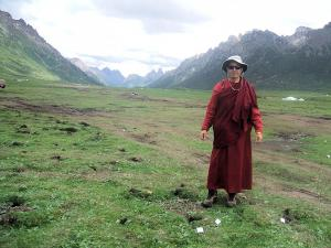 29- Image from Nyenpo Yurtse - There is no road access - we had to hike in and bring supplies on horse and yak