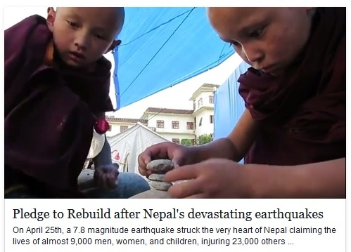 Pledge to Rebuild after Nepal's devastating earthquakes